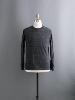 FilMelange | DOLLY Black Melange 吊り編みロングスリーブカットソーの商品画像