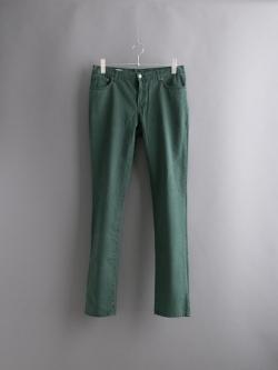 MAISON KITSUNE   SLIM CUT COTTON Dark Green コットン5ポケットパンツの商品画像