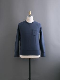 CHAMPION × TODD SNYDER | POCKET SWEATSHIRT Mast Blue 裏起毛ポケットスウェットシャツの商品画像