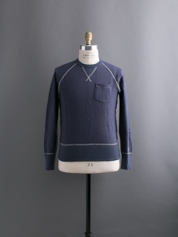 CHAMPION × TODD SNYDER | POCKET SWEATSHIRT Mast Blue 裏毛ポケットスウェットシャツの商品画像