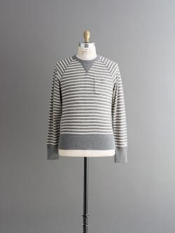CHAMPION × TODD SNYDER | POCKET SWEATSHIRT Grey Heather Stripe 裏毛ポケットスウェットシャツの商品画像