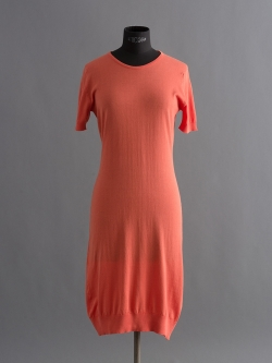 JOHN SMEDLEY | GAIL Persimmon コットン半袖クルーネックドレスの商品画像