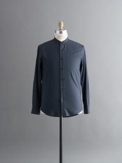 STEVEN ALAN   FORTE BAND COLLAR SHIRT Navy バンドカラーシャツの商品画像