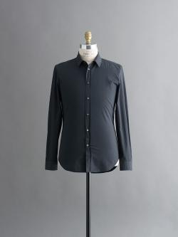 MAISON MARGIELA | SHIRT WITH PATCH PIPING HORIZONTAL Navy バックヘム切替スリムフィットシャツの商品画像