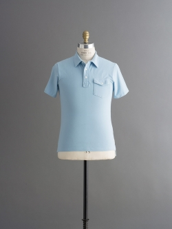 TODD SNYDER | CLASSIC PIQUE POLO Light Blue 半袖ポロシャツの商品画像