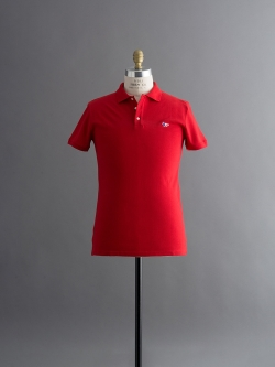 MAISON KITSUNE | POLO WITH TRICOLOR FOX PATCH Red 半袖ワッペンポロシャツの商品画像