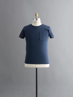 GOODWEAR | 7.2OZ S/S CREW-NECK TEE WITH RIB Washed Navy 半袖リブTシャツの商品画像