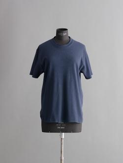SUNSPEL | CELLULAR COTTON T-SHIRT Navy セルラーワープクルーネックTシャツの商品画像