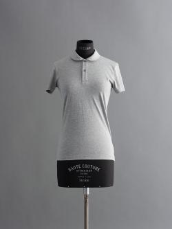 SUNSPEL | LONG-STAPLE COTTON JERSEY POLO SHIRT Silver 丸襟半袖ポロシャツの商品画像