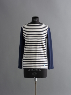 ORCIVAL | MARINIERE BICOLOR Ecru/Marine バイカラーフレンチバスクシャツの商品画像