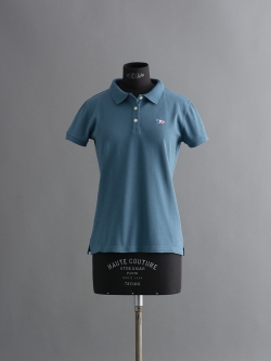 MAISON KITSUNE | TRICOLOR PATCH POLO Steal 半袖ワッペンポロシャツの商品画像