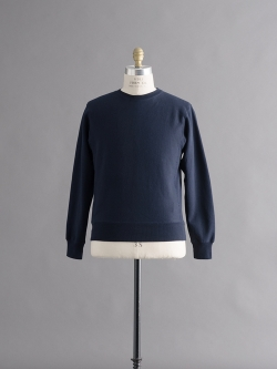 FilMelange | ANDY Navy 空紡裏起毛スウェットシャツの商品画像