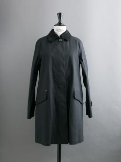 MACKINTOSH | KILMANY Black ライナー付きゴム引きコート(コーデュロイ襟)の商品画像