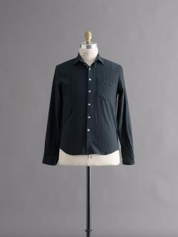STEVEN ALAN   REVERSE SEAM SHIRT Black Navy Multi リバースシームネルシャツの商品画像
