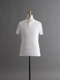 SUNSPEL | PIQUE RIB COLLAR POLO SHIRT White カノコ半袖ポロシャツの商品画像