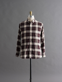 GITMAN BROTHERS | PLAID LONG SLEEVE SHIRT Burgundy Multi ツイルチェックシャツの商品画像