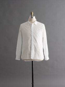 AULICO | SHIRT White プレーンツイルシャツの商品画像