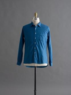 AULICO | SHIRT Sax プレーンツイルシャツの商品画像
