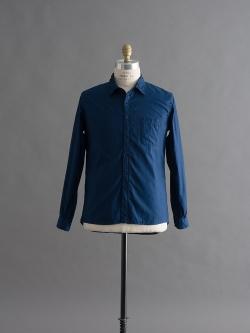 AULICO | SHIRT Navy プレーンツイルシャツの商品画像