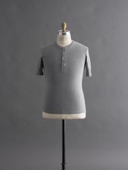 Schiesser | KARL-HEINZ SHORT SLEEVE HENLEY Grey 半袖ヘンリーネックカットソー カールハインツの商品画像