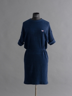 MAISON KITSUNE | DRESS JERSEY LOOP Indigo パイルジャージーワンピースの商品画像
