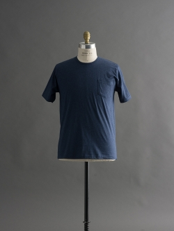 GICIPI | 1704P Blue Melange マーセライズコットンクルーネックTシャツの商品画像