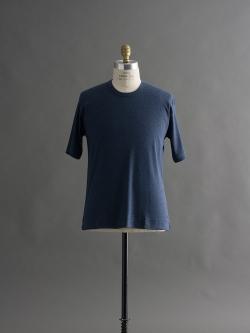 GICIPI | 1703P Blue Melange リラックスフィットワッフルTシャツの商品画像