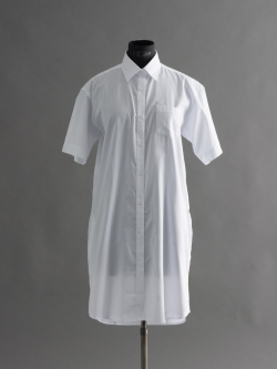 SUNSPEL | CELLULAR COTTON CONTRAST SHIRT DRESS White コットン切り替えシャツワンピースの商品画像