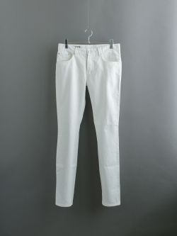 MAISON KITSUNE   OVERDYED SLIM CUT PANT White 後染めコットンツイルパンツの商品画像