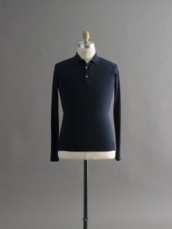JOHN SMEDLEY   COTSWOLD Midnight ウールニットポロシャツの商品画像