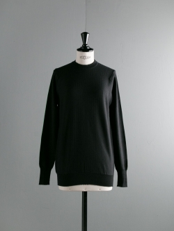 JOHN SMEDLEY | TILDA Black ウールシルククルーネックニットの商品画像