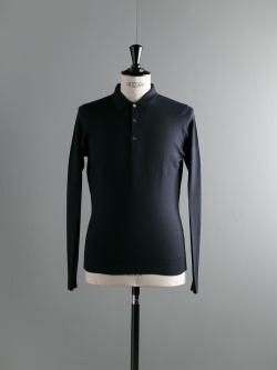 JOHN SMEDLEY | SCIFRESH Midnight ウールニットジャガードポロシャツの商品画像