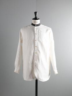 FRANK LEDER | WHITE LINEN OLD STYLE SHIRT 90 ホワイトリネンオールドスタイルシャツの商品画像