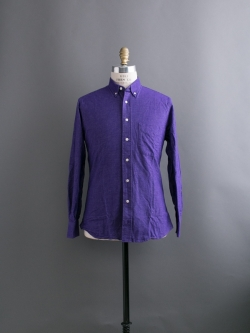 GITMAN BROTHERS | FLANNEL BUTTON-DOWN SHIRT Purple コットンフランネルシャツの商品画像