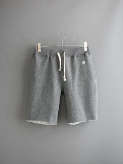TODD SNYDER / CUT OFF GYM SHORTS Salt and Pepper