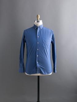 GITMAN BROTHERS | SOLID BUTTON-DOWN SHIRT Blue コットンツイルボタンダウンシャツの商品画像