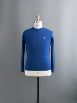 MAISON KITSUNE | R-NECK SWEATER Royal Blue ウールクルーネックニットの商品画像