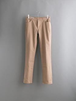 MAISON KITSUNE | SLIM CUT COTTON Camel コットン5ポケットパンツ