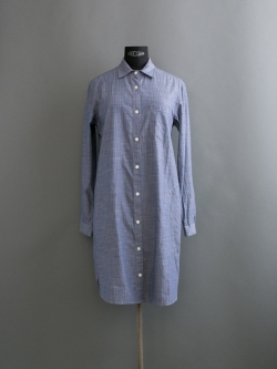STEVEN ALAN / NEW CLASSIC SHIRT DRESS Chambray Red