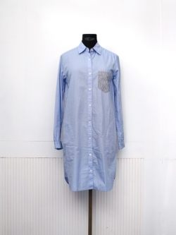 STEVEN ALAN / NEW CLASSIC SHIRT DRESS Blue End On End