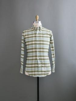 THOM BROWNE / OXFORD CHECK SHIRT Green/Blue