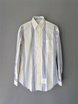 THOM BROWNE | BROADCLOTH STRIPE SHIRT Yellow/Navy コットンブロードストライプシャツの商品画像