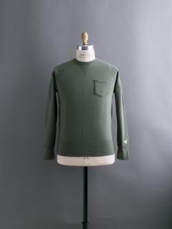 CHAMPION × TODD SNYDER | POCKET SWEATSHIRT Washed Olive 裏起毛ポケットスウェットシャツの商品画像