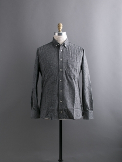 GITMAN BROTHERS | TWEED BUTTON-DOWN SHIRT Charcoal ツイードボタンダウンシャツの商品画像