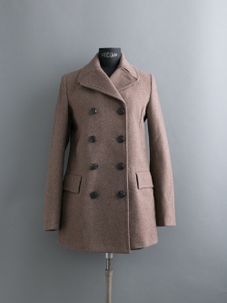 GLOVERALL | REEFER JACKET Brown メルトンPコート