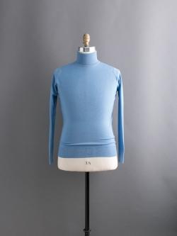 JOHN SMEDLEY | 【訳ありセール】BEAL China Blue ウールタートルネックニットの商品画像