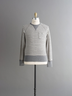 CHAMPION × TODD SNYDER | POCKET SWEATSHIRT Grey Heather Stripe 裏毛ポケットスウェットシャツの商品画像