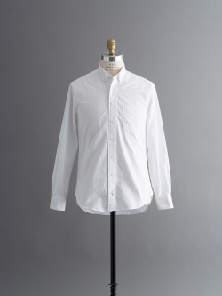 VINTAGE ROUNDED COLLAR BUTTON-DOWN SHIRT White