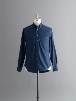 GITMAN VINTAGE / ROUNDED COLLAR BUTTON-DOWN SHIRT Navy