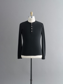 KARL-HEINZ LONG SLEEVE HENLEY Black